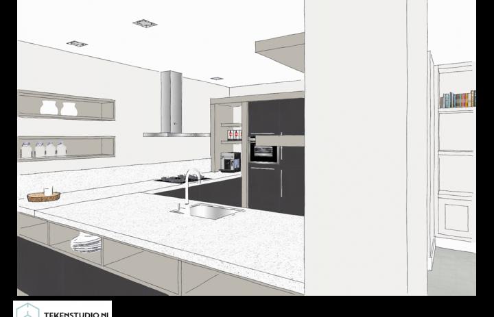 Ontwerp eetkamer-keuken 2