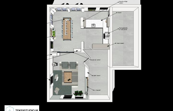 Ontwerp eetkamer-keuken 8