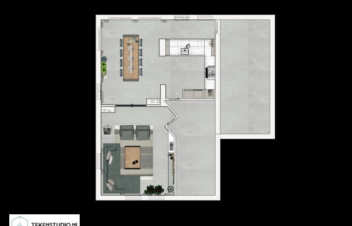 Ontwerp eetkamer-keuken 9